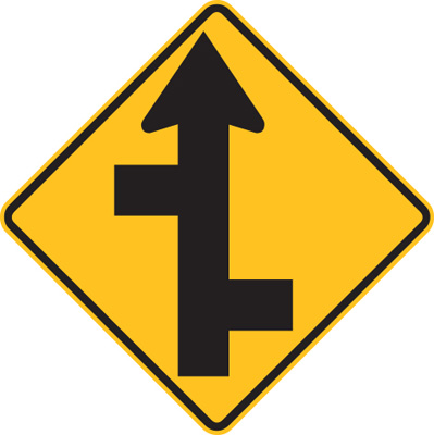STAGGERED SIDE ROAD JUNCTION (L or R)
